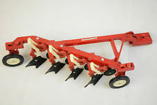 VINTAGE ERTL IH INTERNATIONAL HARVESTER 4 BOTTOM DISC HARROW PLOW 1/16 RED