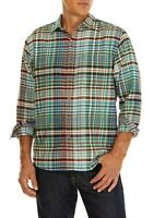 Tommy Bahama Men's SZ M Fore Shore Flannel long Sleeve Shirt Button up