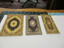 Dollhouse Miniature area rugs for 1:12 scale in black & brown