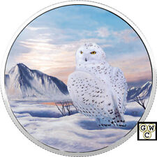 2018 $30 FINE SILVER COIN ARCTIC ANIMALS AND NORTHERN LIGHTS: SNOWY OWL (18441)