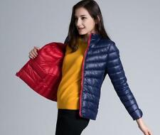 NEW Reversible Women's Ultralight Down Puffer Parka Jacket UNIQLO'S Soft Fabr