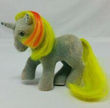 Hasbro My Little Pony Ribbon So Soft Ponies Flocked Unicorn G1 MLP Vintage Blue