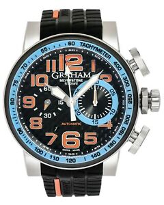 GRAHAM SILVERSTONE STOWE CHRONOGRAPH AUTOMATIC MEN'S WATCH 2BLDC.B13A MSRP $8670