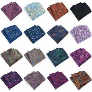 Multi Colors Men Paisley Floral Pocket Square Handkerchief Hanky Wedding Party