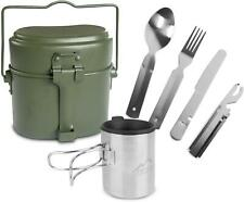 Outdoor-Essbesteck Camping-Geschirrset BW Kochgeschirr, 5-1 Besteck Thermotasse