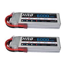 2pcs HRB RC Battery 6000mAh 3S 11.1v 50C 100C RC Lipo Battery Car Airplane US