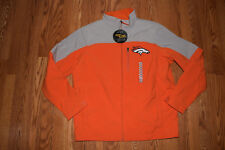 NWT Mens NFL DENVER BRONCOS Orange Gray Softshell Jacket Coat M Medium