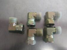 LOT OF 5 JIC SWIVEL ADAPTER # 16 1 INCH 90 DEGREE