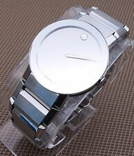 AUTHENTIC SWISS MOVADO SAPPHIRE MIRROR MODEL # 0606093 MEN'S WATCH, RETAIL $1895