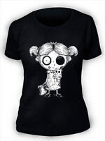 Undead Girl T-Shirt Womens Ladies Goth Rock Undead Corpse Nightmare