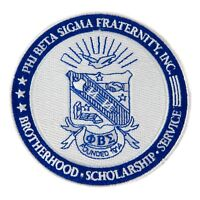 """Phi Beta Sigma Fraternity 4"""" Embroidered Appliqué Seal Patch Sew or Iron On"""