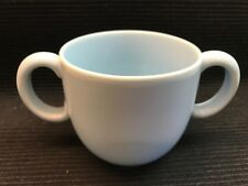 RARE TIFFANY & CO. TIFFANY TOTS CHILDS PALE BLUE 2 HANDLED CUP MUG