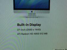 "Original APPLE IMAC A1312 2009 27"" HD 4850 Video Graphics Card  512mb"