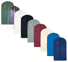 Hoesh Pack of 5 Mens Suit Cover Breathable Travel Zipped Long Dress Garment Bags