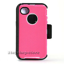 OtterBox Defender Hard Rugged Case for iPhone 4 4S w/Holster Belt Clip Pink USED