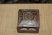 Antique Tribal Wood Carved Trinket Box Butterfly Shape