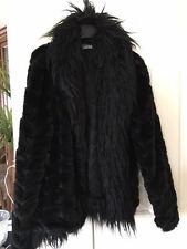 Rinascimento Jacket coat faux fur Italy couture black