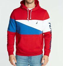 NWT Men's Nautica Fleece Colorblock  Hoodie Hooded Sweater Pullover