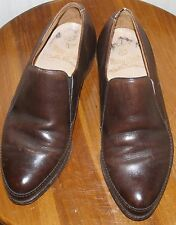 NUNN-BUSH flexible fetherwate ~ leather sole LOAFER brown DRESS SHOES 7 EEE