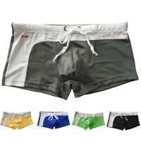 Mens Sexy Mesh Bulge Boxer Swimming Men Swim Shorts Trunks Swimwear Size  S M L
