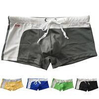 Mens Sexy Mesh Bulge Boxer Swimming Men Swim Shorts Trunks Swimwear Size  S M L