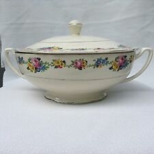 Vintage  Crooksville China Co Floral Casserole with Lid