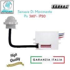 MINI SENSORE DI MOVIMENTO PIR DA INCASSO A 360 gradi impermeabile IP20