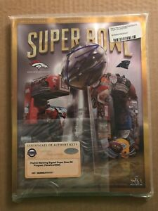 Steiner Sports Fanatics Peyton Manning Signed Super Bowl 50 Program Hall of Fame