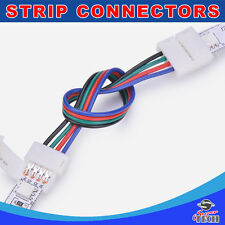 10 X 10mm 4 pins RGB strip to strip with 15CM wire IP20 snap led strip connector