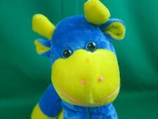 BLUE YELLOW KING PLUSH BABY COW CALF LONGLEGS STUFFED ANIMAL SOFT CUDDLY TOY