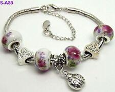 1pc beautiful charm bracelet fit porcelain beads S-A33
