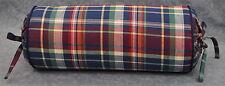 Corded Neck Pillow made w Ralph Lauren Garrison Red, Green & Blue Plaid Fabric