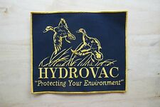 """8-1/4"""" HYDRO VAC """"PROTECTING YOUR ENVIRONMENT"""" APPLIQUE PATCH"""