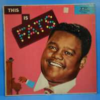 FATS DOMINO THIS IS FATS VINYL LP MONO 1957 ORIGINAL PRESS PLAYS GREAT! VG/VG!!A