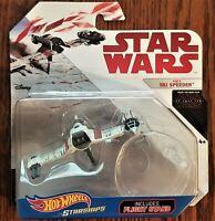 Disney Hot Wheels Starships Highly Collectible Star Wars Poe's Ski Speeder NEW
