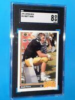 1991 Brett Favre Upper Deck #13 SGC 8 NM/MINT ROOKIE CARD