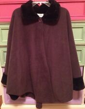 Jennifer Lauren Gray Faux Fur Cape