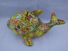 Pomme Pidou Ceramic Lime Green Dolphin Moneybox.