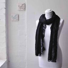 Sciarpe, foulard e scialli da donna neri 100% Cotone