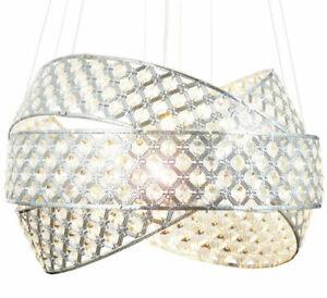 Suspension Lewima en verre cristal LED  - Ø50cm - Réf : HA835