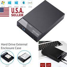 "Hard Drive External Enclosure SATA to USB 3.0 HDD Docking Station 2.5""/3.5"
