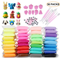 36 Colors Air Dry Ultra Light Clay Kit Magic Modeling Kids DIY Crafts with tools