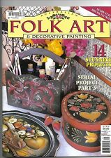 Folk Art and Decorative Painting Magazine Vol 7 No:10.  'pattern sheet included'