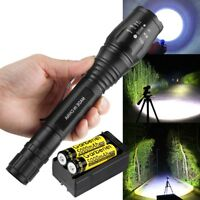 Tactical 90000 Lumen 5modes Tactical T6 LED Flashlight Torch 18650 Zoomable USA