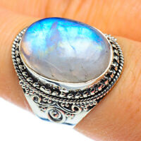 Rainbow Moonstone 925 Sterling Silver Ring Size 8.25 Ana Co Jewelry R44310F