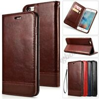 Luxury PU Leather Wallet Case Magnetic Close Flip Cover Stand For Various Phones