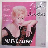 """33T Mathe ALTERY Disque Vinyle LP 12"""" 13 VALSES ROMANTIQUES - PATHE 154 F Rèduit"""