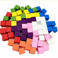 100 PCS Pawn Wooden Game Pieces 15 mm Square Board Game Accessories Boardgame