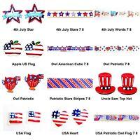 4th July Flatback Resin or Grosgrain Ribbon - Patriotic HOLIDAY - Choose Design