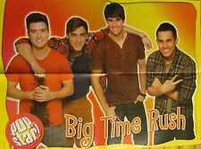 Big Time Rush, Justin Bieber, Double Sided Four page Foldout Poster